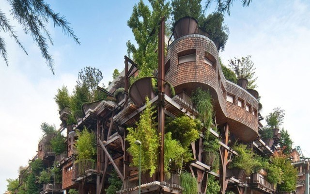 This Treehouse Apartment Building is Like Something Out of Neverland