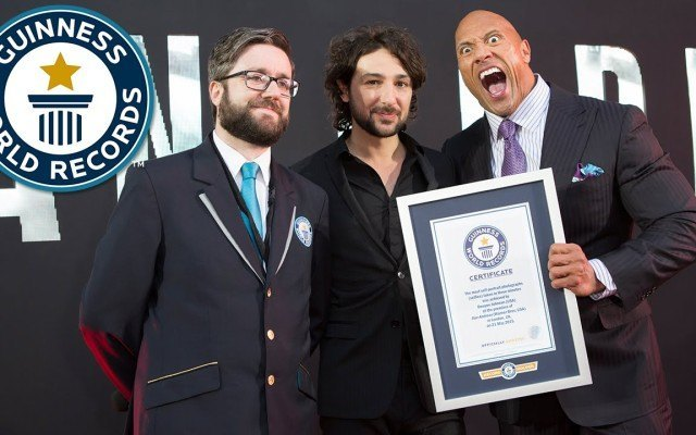 Dwayne Johnson Broke a Guinness World Record for Most Selfies