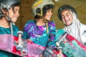 Not Allowed To Bike, These Afghan Girls Rip It Up On Skateboards Instead