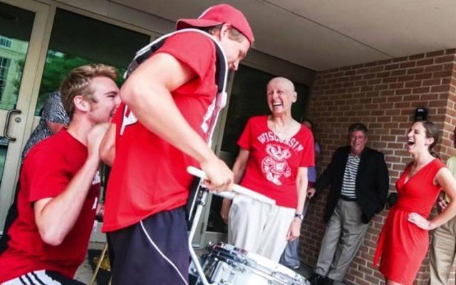 A Cancer Patient Got A Surprise Marching Band Sendoff After Finishing Chemo