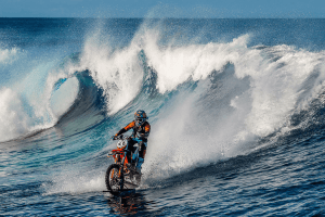 You Won't Find A More Extreme Sport Than Surfing… On A Dirt Bike