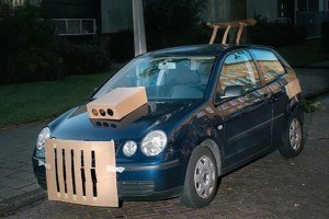 This Prankster Transforms Cars Into Cardboard Custom Rides