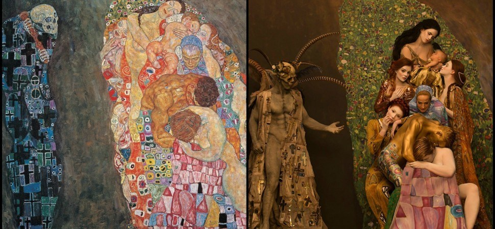 Photographer Brings Klimt's Paintings to Life With Real Models