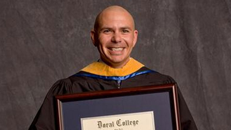 Rapper pitbull took the best graduation photo voltagebd Image collections