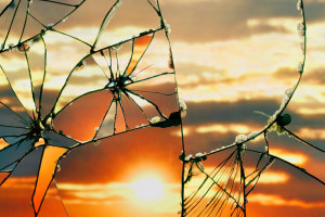Sunsets Take On A Whole New Beauty Through Shattered Mirrors