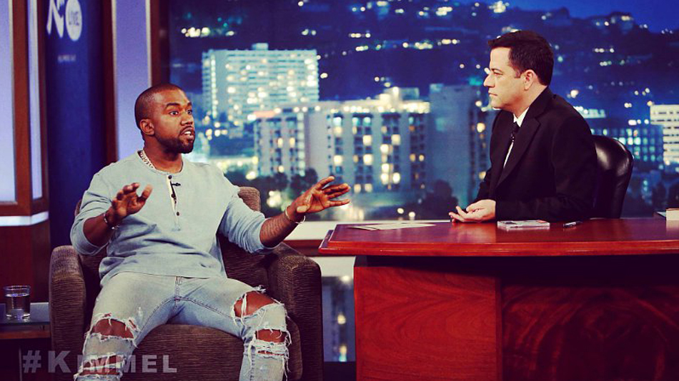 The Best Egomaniac GIFs from Kanye's Interview with Jimmy Kimmel