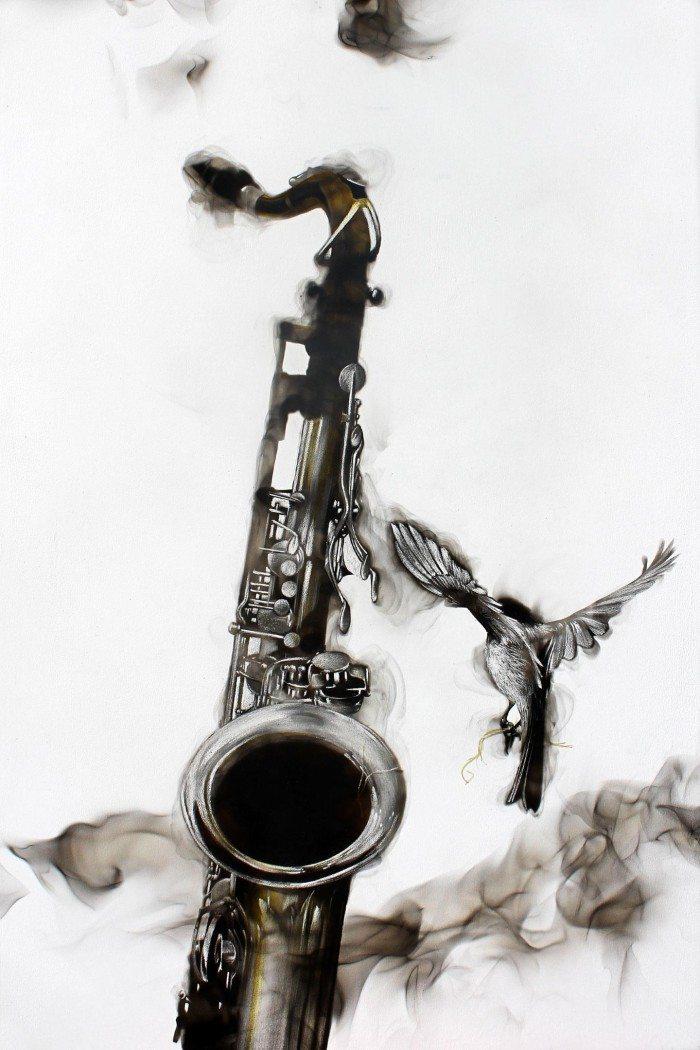 saxophone&chickadee