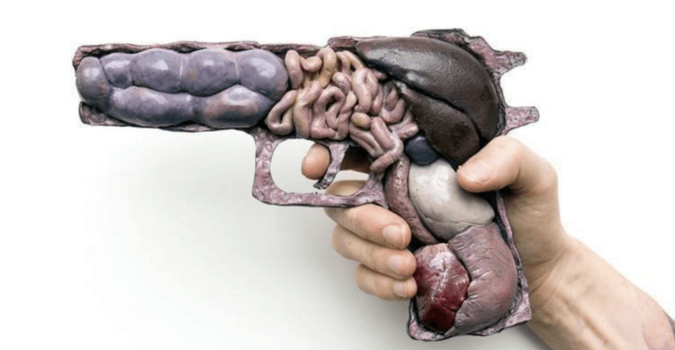 Artist Noah Scalin Wants You to Think About the Impact of Guns