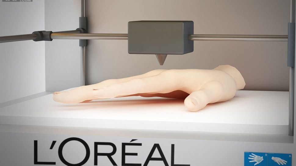 L'Oreal is About to Test Products on 3D Printed Human Skin