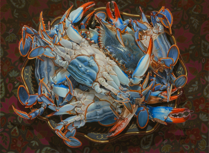 eric-wert-blue-crabs-12-x-16-oil-on-panel