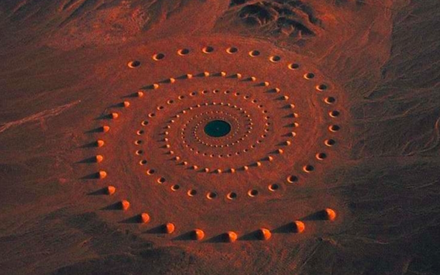 How Did This Giant Spiral in the Middle of the Sahara Desert Get There?