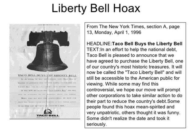 Liberty Bell Hoax