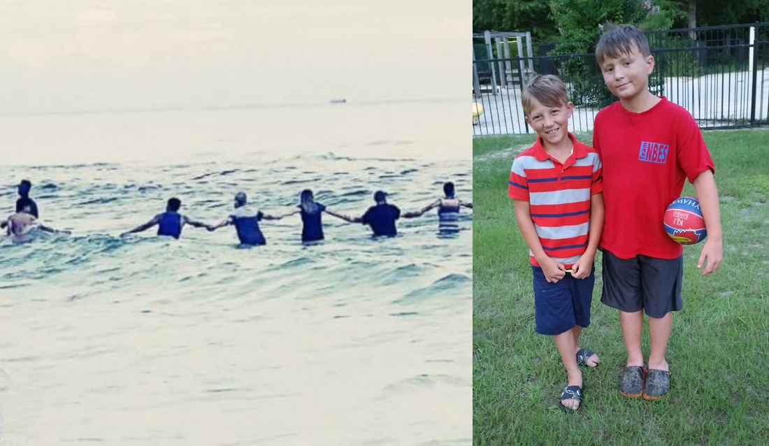 80 Brave Strangers Made a Human Chain to Rescue a Drowning Family